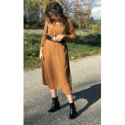 ROBE longue maille camel JUDY